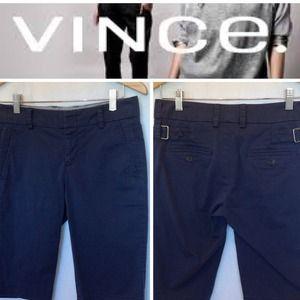 🔴SOLD🔴VINCE Navy Cotton Slim Fit Bermuda Shorts