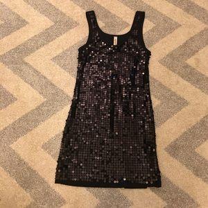 Eyeshadow Sequin Black Dress