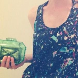 Zara Clutches & Wallets - ❌Sold❌ Zara lucite green clutch