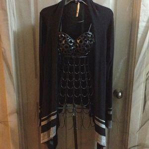 studio Sweaters - NEW black-silver hi/low sweater SAVE $61 off list$
