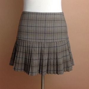 Plaid Drop Waist Skirt