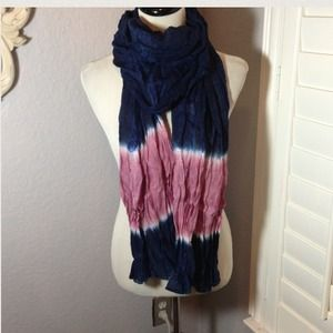 RELISTED! Crinkle Tie Dye Scarf