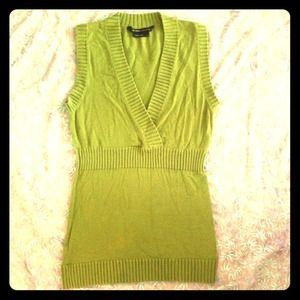 Olive Green V-neck Sweater Tank
