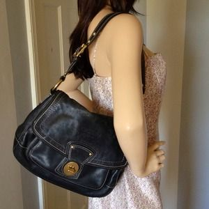 Black leather Coach Legacy loved bag