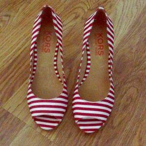 Michael Kors cabana striped heels
