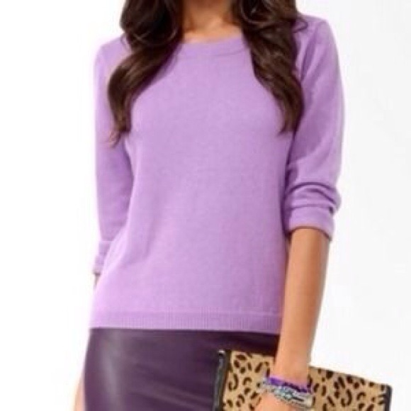 33% off Forever 21 Tops - Pastel Purple Sweater from ! cristina's ...