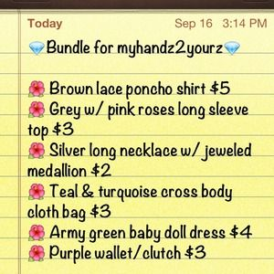 Other - Bundle for myhandz2yourz