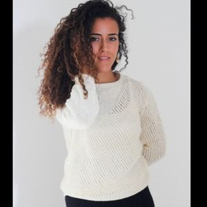 Ivory Silk Knitted Sweater