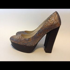 Shoes - Marco Santi for Sole Society Brocade Heel, size 7