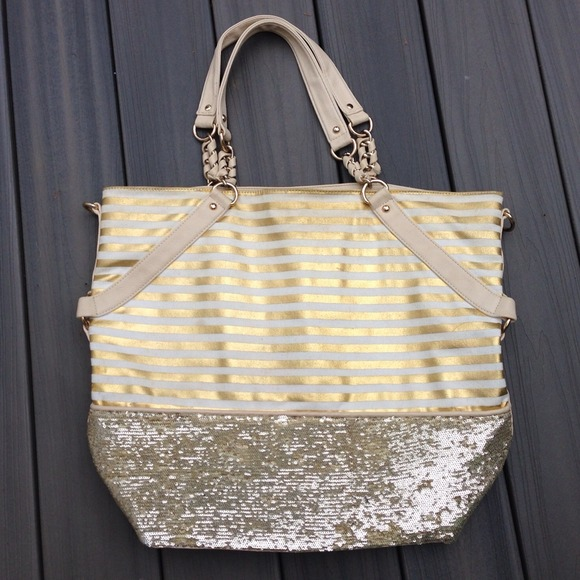 Large Gold Sparkle Tote