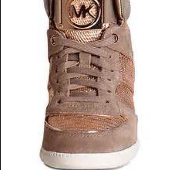 ff02dd7ef Michael Kors Shoes | Rose Gold Platform Sneakers | Poshmark