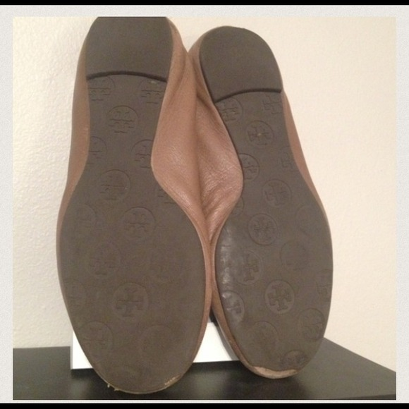 Tory Burch Shoes - Authentic Tory Burch Light Brown Reva Ballet Flats