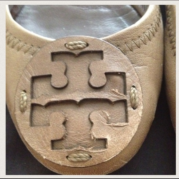 Tory Burch Shoes - Authentic Tory Burch Light Brown Reva Ballet Flats 4