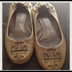 Tory Burch Shoes - Authentic Tory Burch Light Brown Reva Ballet Flats 2