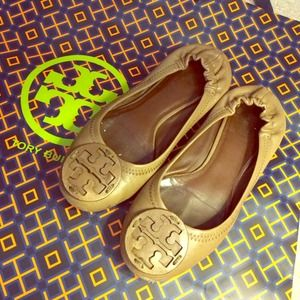 Tory Burch Shoes - Authentic Tory Burch Light Brown Reva Ballet Flats 1