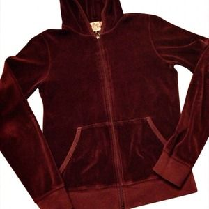 Juicy Couture Jackets & Blazers - Perfect Condition Maroon Juicy Couture Hoodie