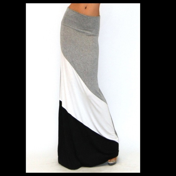 34% off Dresses & Skirts - Cute Grey Black & White Color Blocked ...