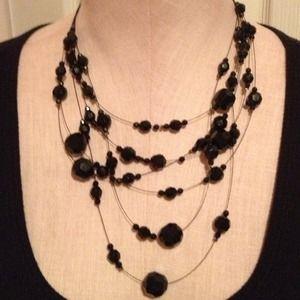 Jewelry - Multi strand black necklace 👀NWT