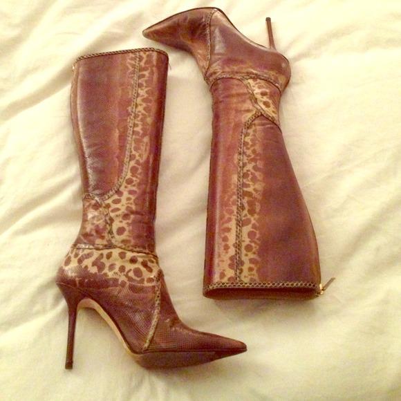 9fc92b8c96 Jimmy Choo Shoes | Sold Snakeskin Knee High Boots | Poshmark