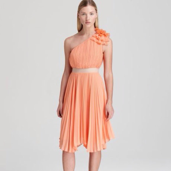 Pleated One Shoulder Dresses