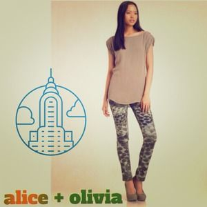 "ALICE + OLIVIA ""Abstract Animal Print"" Skinnies"