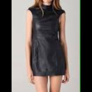 Shakuhachi Dresses & Skirts - Leather cap sleeve dress