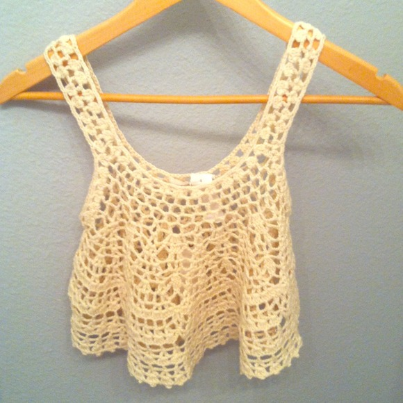 Crochet Crop Top : 64% off Lf Tops - Lf crochet crop top from Samanthas closet on ...