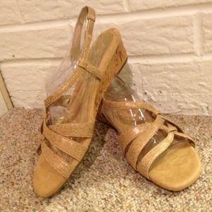 Brand new gold Aerosoles sandals