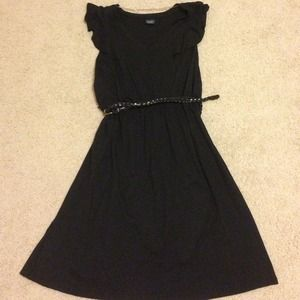 Faded Glory Dresses & Skirts - Black dress with braided belt size Large