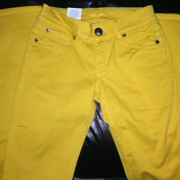 45% off Wrangler Denim - Yellow Wrangler bootcut jeans w bling ...
