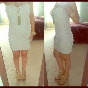 Cute ruffled tube dress