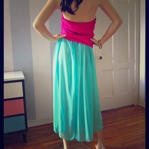 Nwot Turquoise Amer,Apparel skirt or fuchsia top