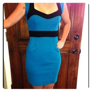 NWT French Connection BodyCon Dress Turquoise