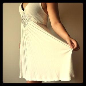 White rhinestone nostalgic dress
