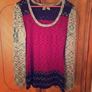 Funky eclectic long sweater