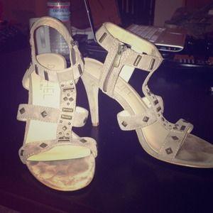 Rachel Roy suede studded heels
