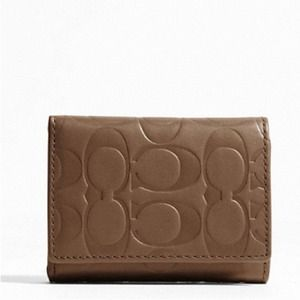 NWT Coach Signature trifold wallet