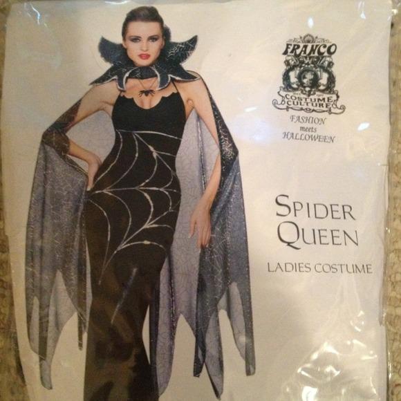 accessories sold spider queen halloween costume