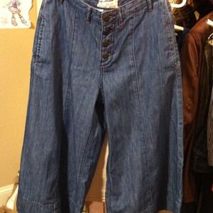 FREE PEOPLE Denim Gaucho SZ 25