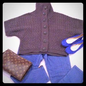 Nine West knit sweater jacket in grey