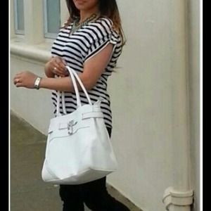 Zara B&W Striped with studs on shoulder size med