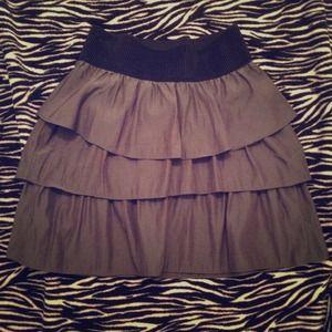 Grey layered skirt