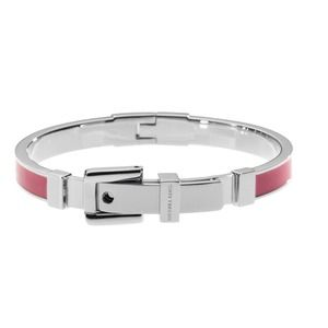 Michael Kors Silver and Pink Buckle Bracelet