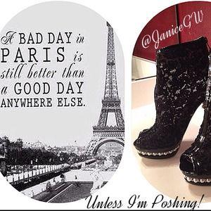Poshing for Paris-always!
