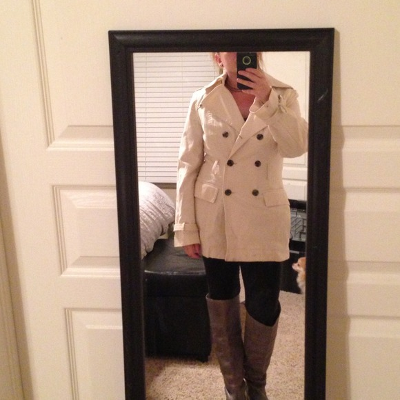 Express - Long cream pea coat by express! Perfect coat from ...
