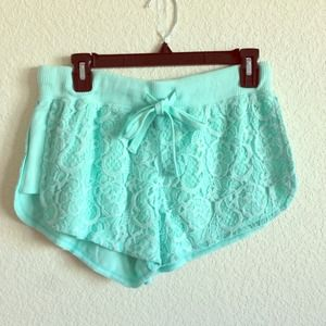 Pants - Mint Lace Shorts