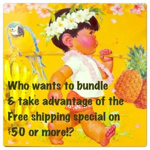 Free shipping on $50 or more!