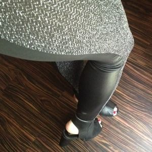 Pants - Chainmail & Leather Panel Leggings
