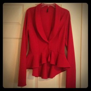 Red peplum dress jacket
