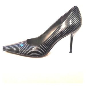 BCBG patent pinstripe heels-MAKE AN OFFER!